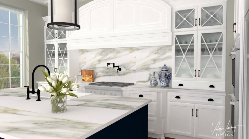 Transitional Classic Kitchen Remodel Valerie Laurent Design