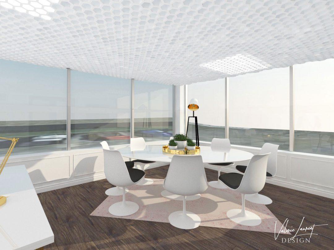 Corporate office conference room Valerie Laurent Design