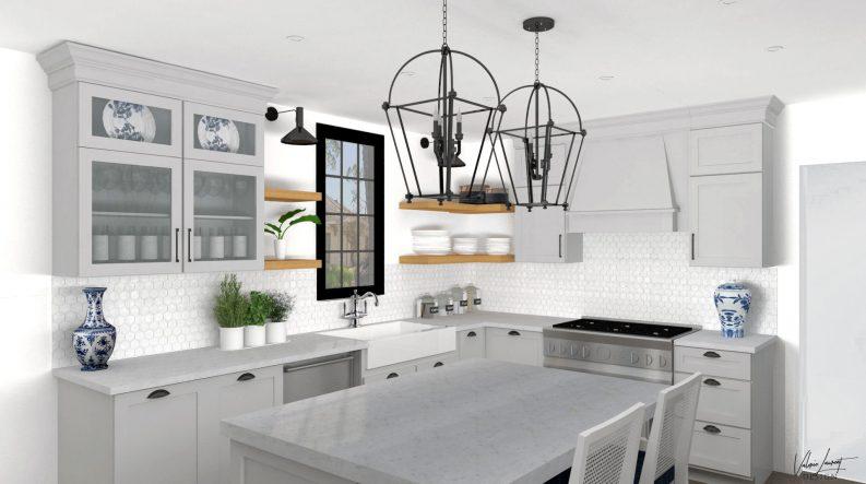 Country Kitchen Remodel Transitional Grey Valerie Laurent Design