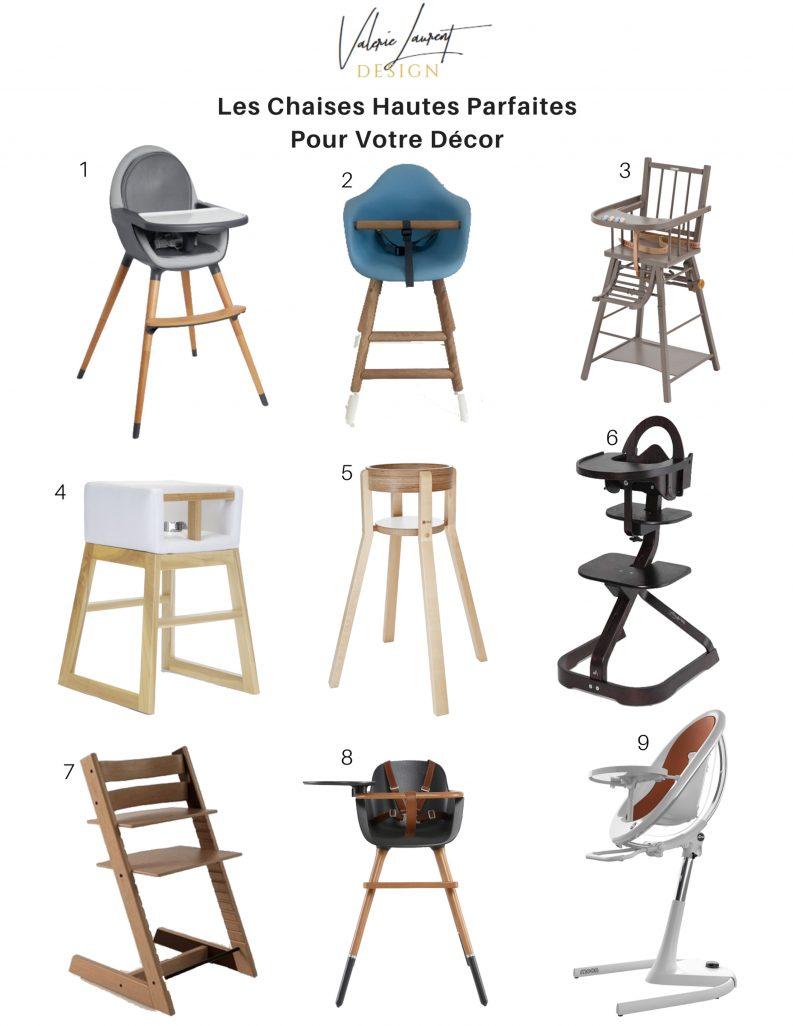 Bébé chaises hautes design décor moderne belles