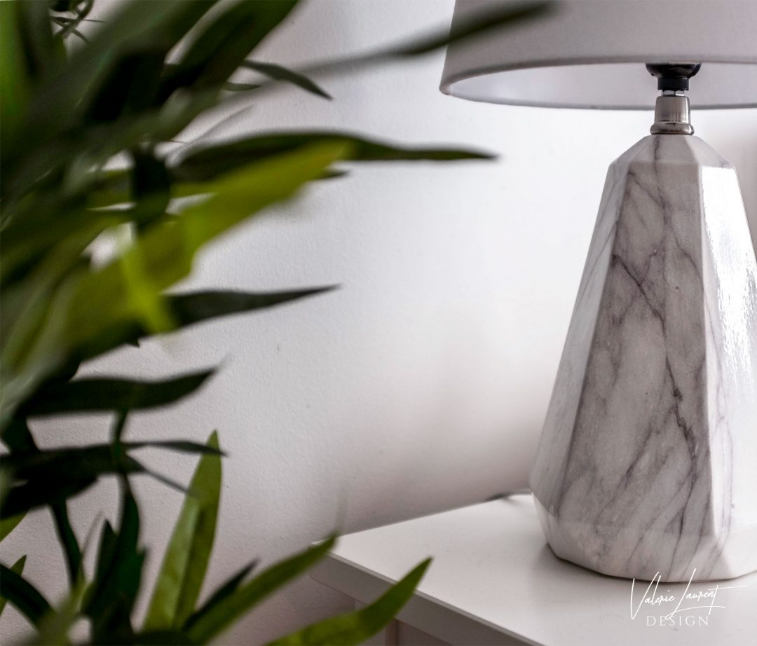 Marble lamp plant