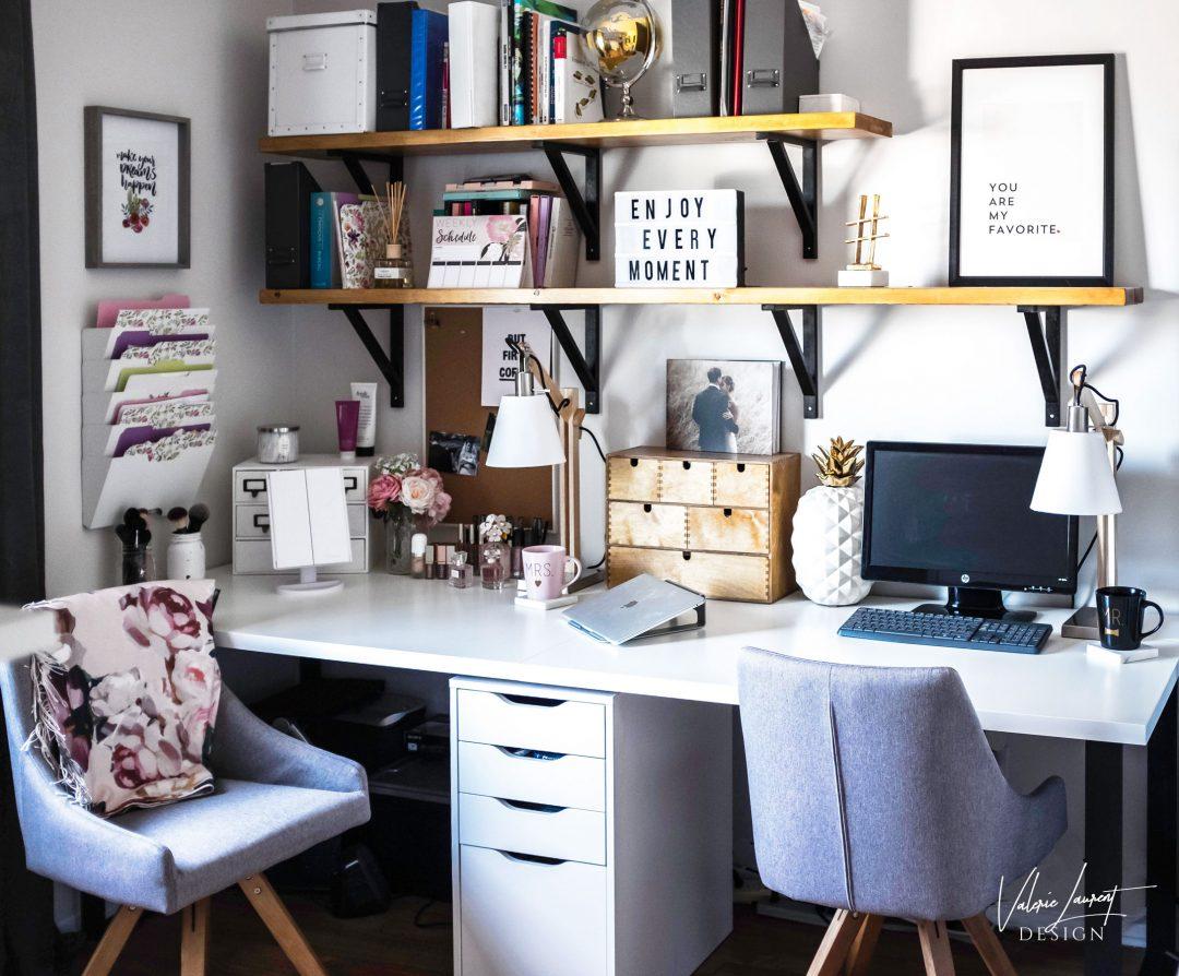 home office make up station