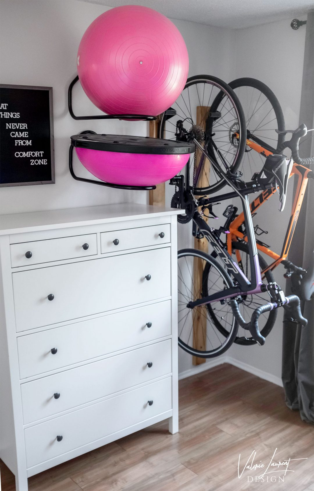 home gym storage bosu bicycle ball