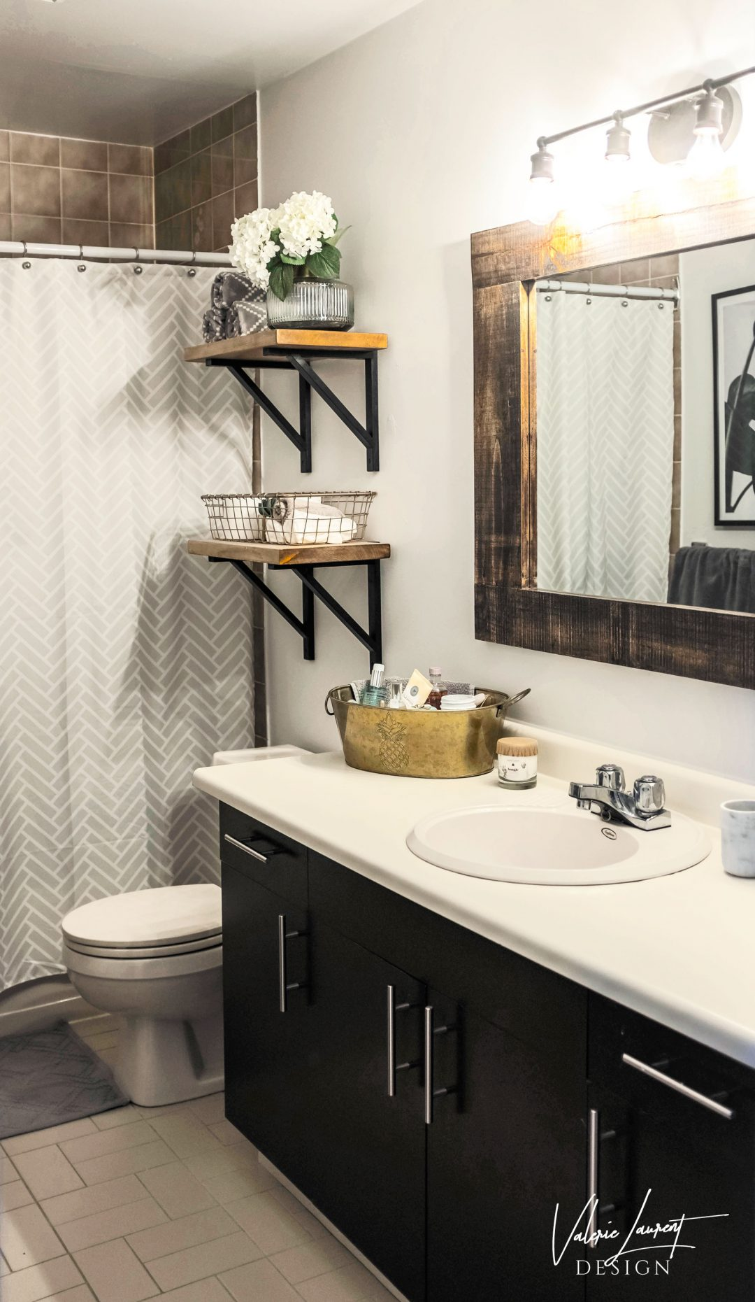 Bathroom storage modern farmhouse decor