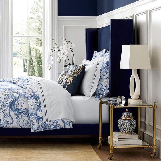 Chambre bleu marine Indigo SW6531 Navy bedroom