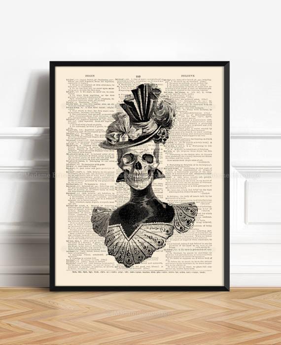 Halloween skeleton madame bricolage press