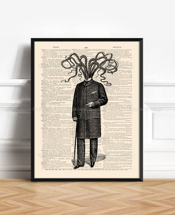 Victorian Steampunk Octopus by Madame Bricolage Press