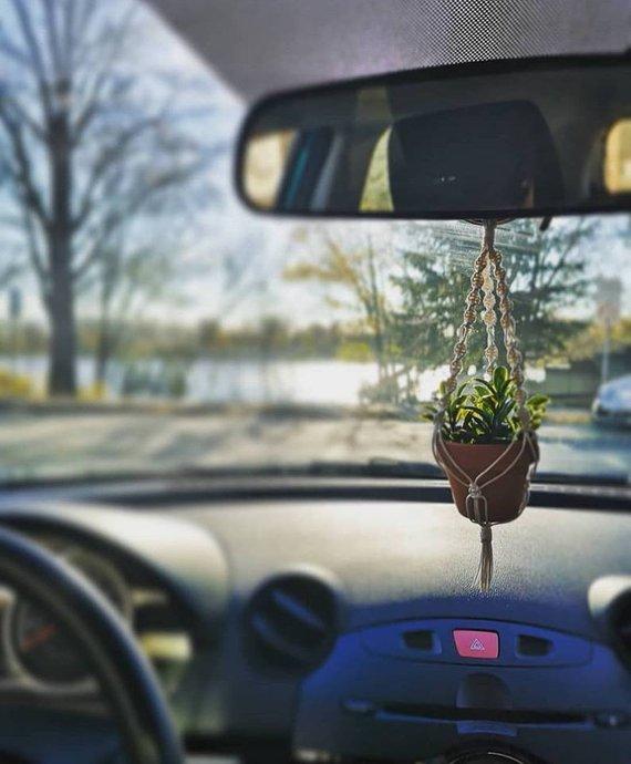 Kapadocia Macramé rétroviseur plante