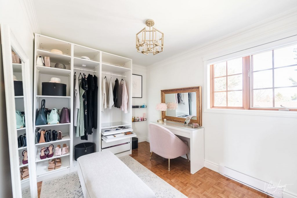 Valerie Laurent Design Boudoir Walk-in closet maquilleuse