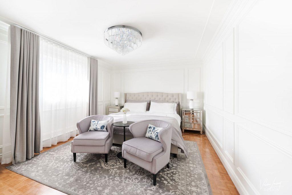 Valerie Laurent Design Master Bedroom Classical Mouldings Case