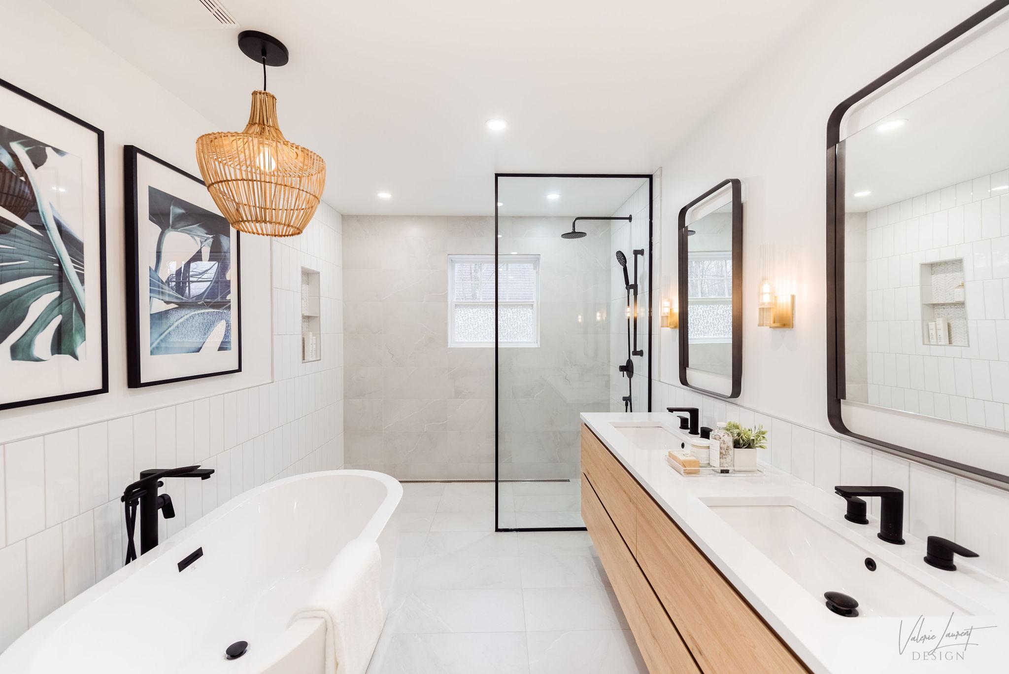 Valerie Laurent Design Salle de bain contemporaine