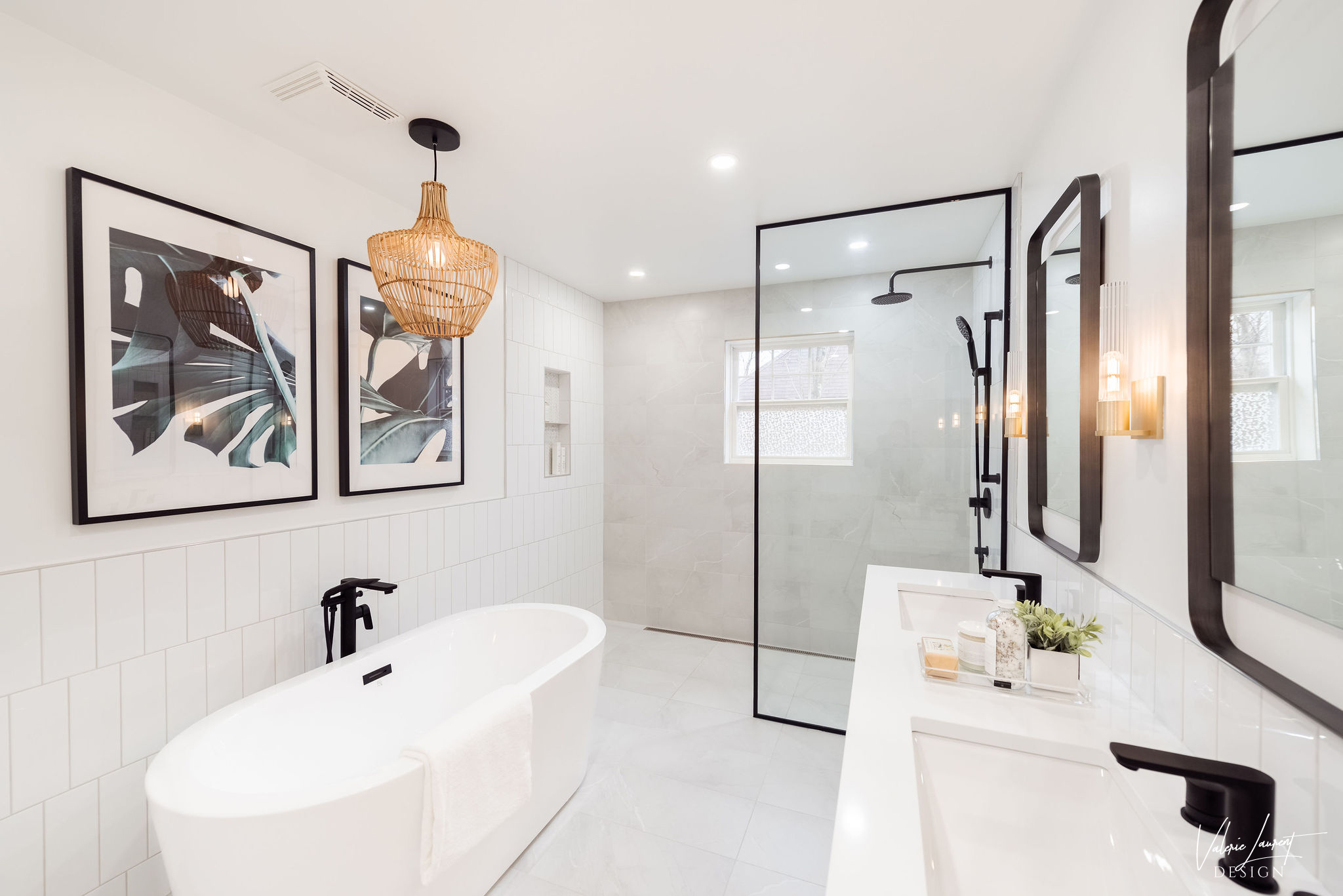 Valerie Laurent Design Birch Street Project Bathroom Master Contemporary