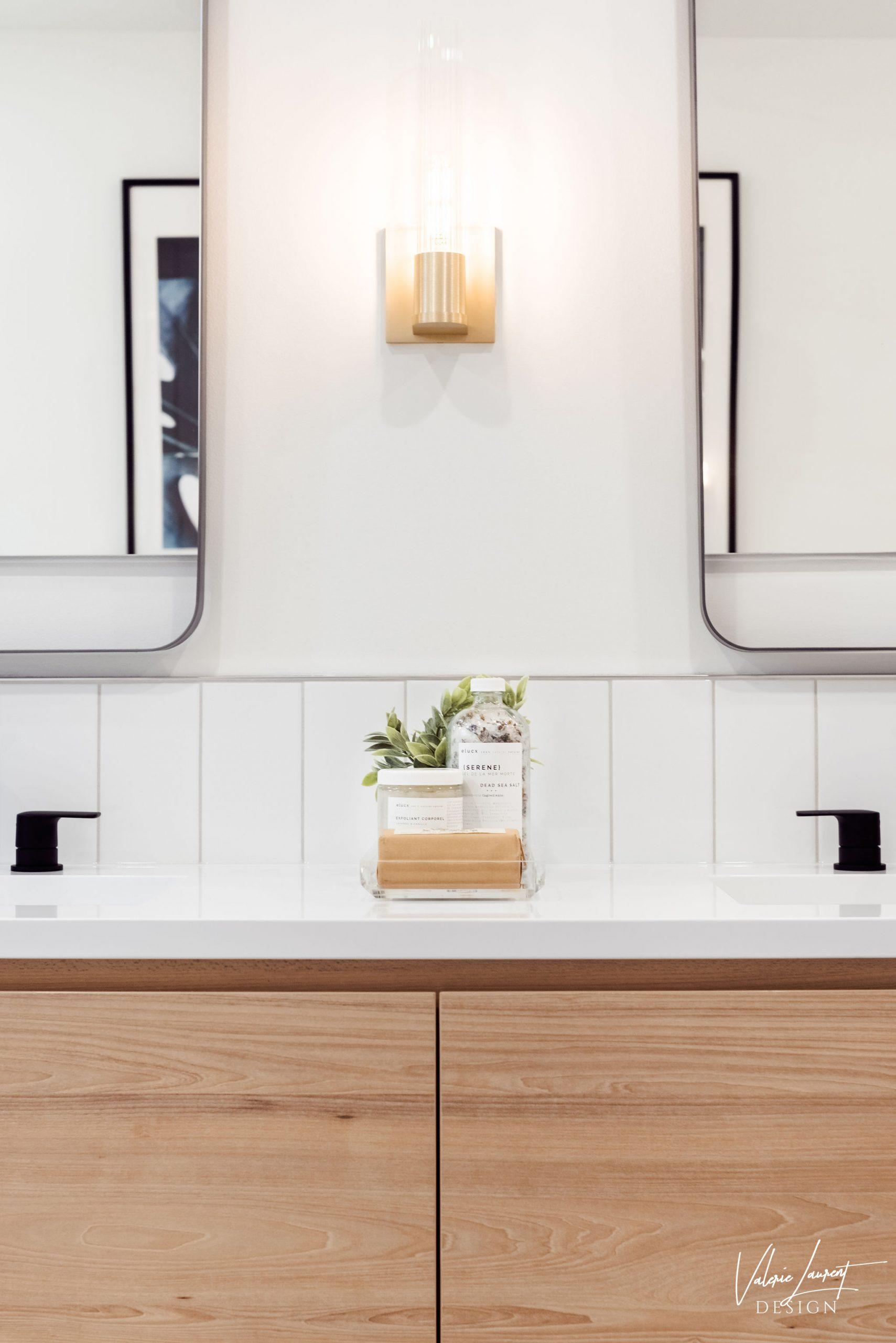 Valerie Laurent Design Vanity Custom wood contemporary